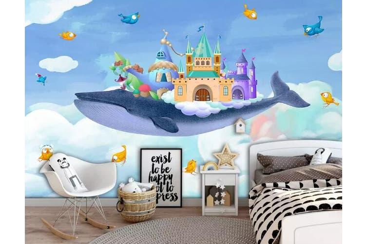 3D Home Wallpaper Whale Spaceship 1274 BCHW Wall Murals Self-adhesive Vinyl, XXXL 416cm x 254cm (WxH)(164''x100'')