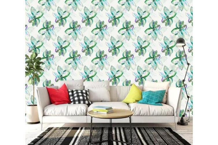 3D Home Wallpaper Green Flowers 1271 BCHW Wall Murals Woven paper (need glue), XXXL 416cm x 254cm (WxH)(164''x100'')