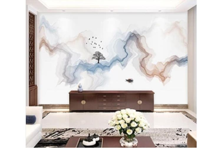 3D Home Wallpaper Color Wave 1267 BCHW Wall Murals Woven paper (need glue), XXL 312cm x 219cm (WxH)(123''x87'')