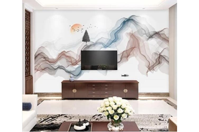 3D Home Wallpaper Color Wave 1266 BCHW Wall Murals Woven paper (need glue), XL 208cm x 146cm (WxH)(82''x58'')