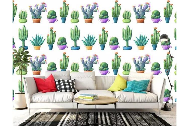 3D Home Wallpaper Green Plant 1264 BCHW Wall Murals Woven paper (need glue), XL 208cm x 146cm (WxH)(82''x58'')