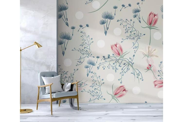 3D Home Wallpaper Colored Flowers 1262 BCHW Wall Murals Self-adhesive Vinyl, XXXXL 520cm x 290cm (WxH)(205''x114'')