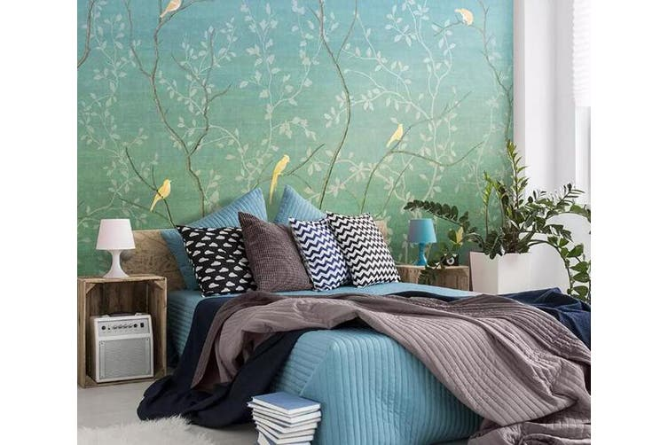 3D Home Wallpaper Birds And Flowers 1256 BCHW Wall Murals Woven paper (need glue), XXL 312cm x 219cm (WxH)(123''x87'')