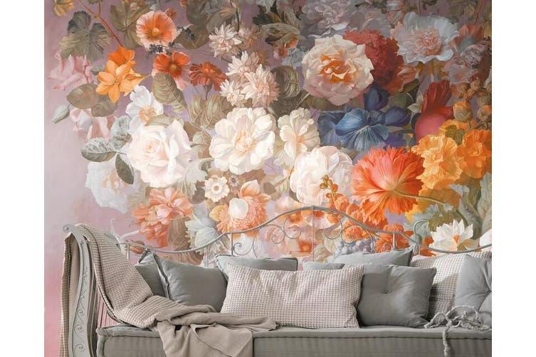3D Home Wallpaper Colored Flowers 1255 BCHW Wall Murals Self-adhesive Vinyl, XXXL 416cm x 254cm (WxH)(164''x100'')