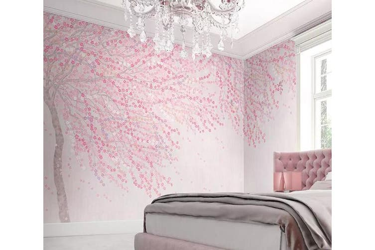 3D Home Wallpaper Pink Tree 1252 BCHW Wall Murals Self-adhesive Vinyl, XXXL 416cm x 254cm (WxH)(164''x100'')