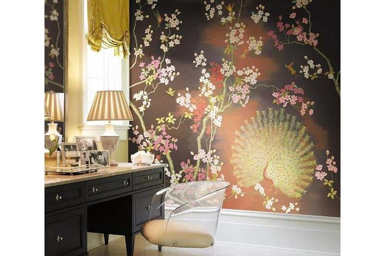 3D Home Wallpaper Flower Peacock 1249 BCHW Wall Murals Woven paper (need glue), XXXL 416cm x 254cm (WxH)(164''x100'')