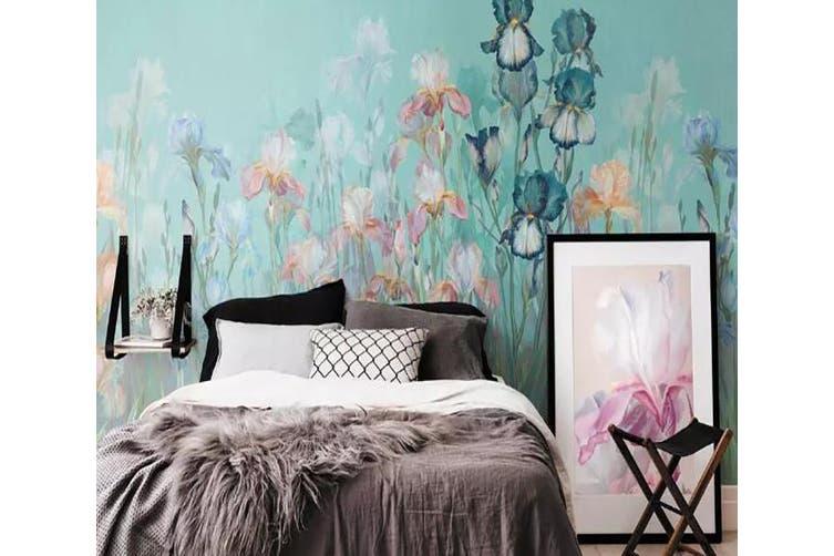 3D Home Wallpaper Flower Butterfly 1248 BCHW Wall Murals Woven paper (need glue), XXL 312cm x 219cm (WxH)(123''x87'')