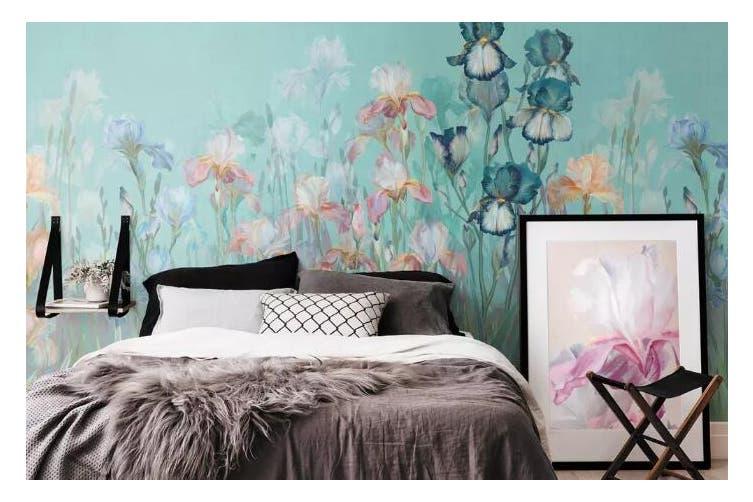 3D Home Wallpaper Flower Butterfly 1248 BCHW Wall Murals Woven paper (need glue), XXXXL 520cm x 290cm (WxH)(205''x114'')
