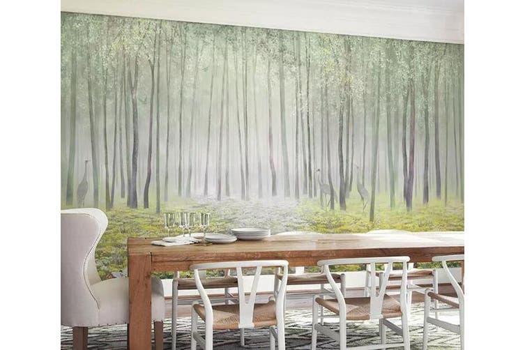 3D Home Wallpaper Green Woods 1246 BCHW Wall Murals Woven paper (need glue), XXXXL 520cm x 290cm (WxH)(205''x114'')