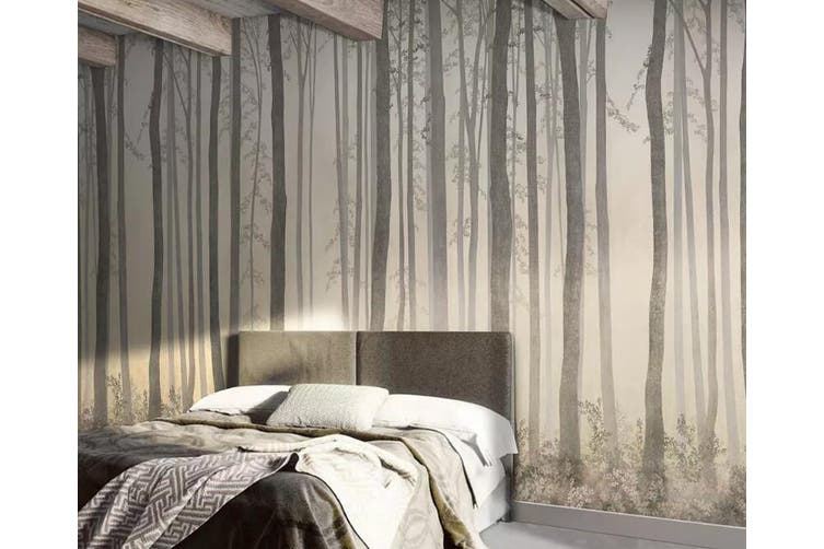 3D Home Wallpaper Sunset Woods 1245 BCHW Wall Murals Woven paper (need glue), XXL 312cm x 219cm (WxH)(123''x87'')