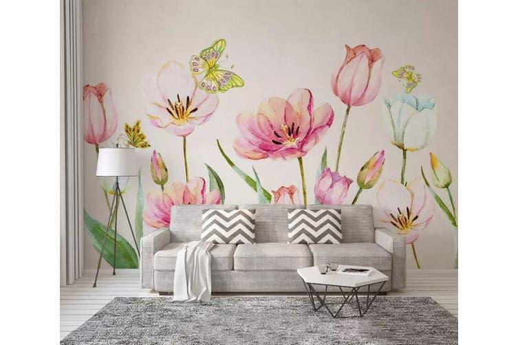 3D Home Wallpaper Flower Butterfly 1243 BCHW Wall Murals Woven paper (need glue), XXXL 416cm x 254cm (WxH)(164''x100'')