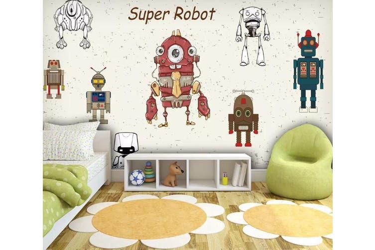 3D Home Wallpaper Robot 1241 BCHW Wall Murals Woven paper (need glue), XXXXL 520cm x 290cm (WxH)(205''x114'')