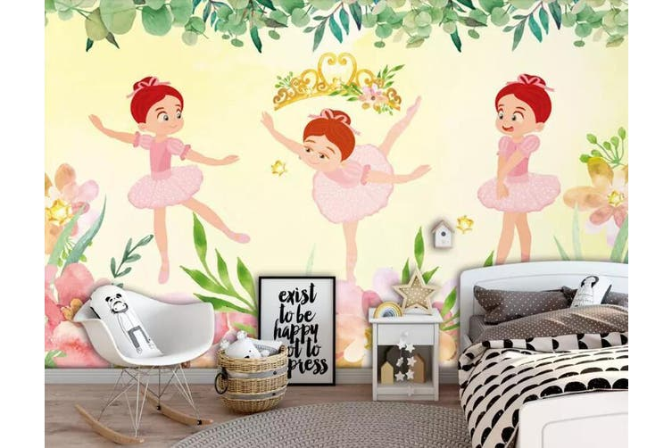 3D Home Wallpaper Child Dance 1239 BCHW Wall Murals Self-adhesive Vinyl, XXXXL 520cm x 290cm (WxH)(205''x114'')