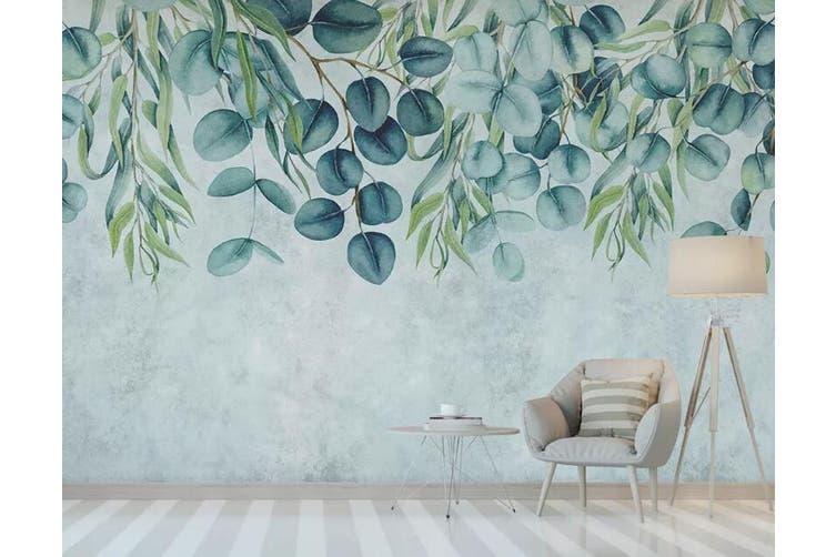 3D Home Wallpaper Green Leaf 1238 BCHW Wall Murals Self-adhesive Vinyl, XXXL 416cm x 254cm (WxH)(164''x100'')