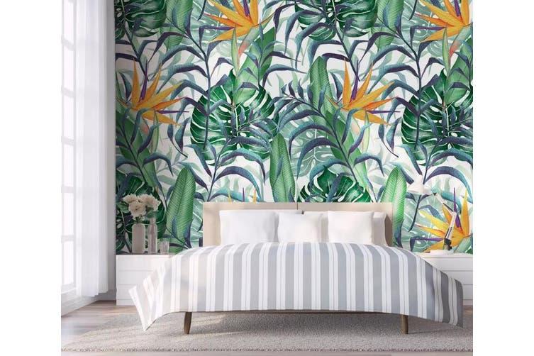 3D Home Wallpaper Green Leaf 1237 BCHW Wall Murals Woven paper (need glue), XL 208cm x 146cm (WxH)(82''x58'')