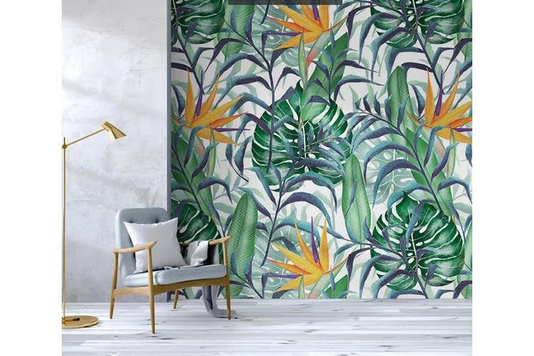 3D Home Wallpaper Green Leaf 1237 BCHW Wall Murals Self-adhesive Vinyl, XL 208cm x 146cm (WxH)(82''x58'')