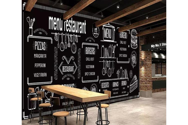 3D Home Wallpaper Black Letters 1236 BCHW Wall Murals Woven paper (need glue), XL 208cm x 146cm (WxH)(82''x58'')