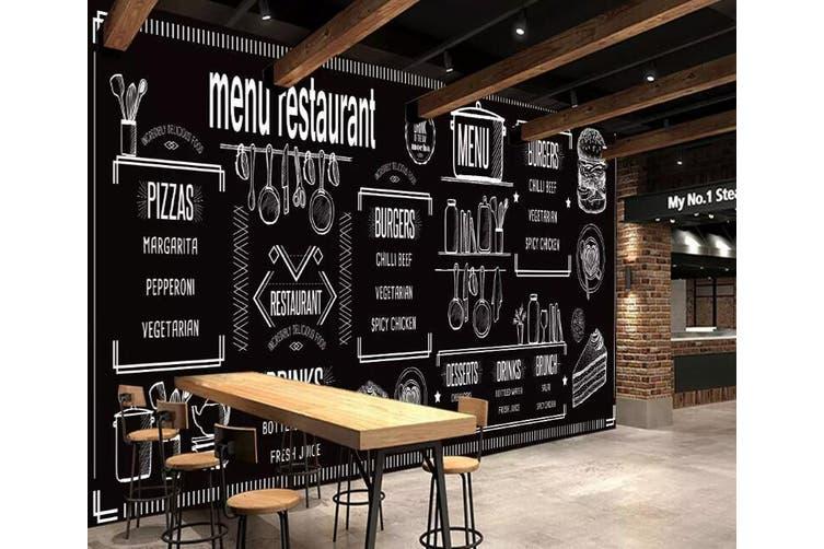 3D Home Wallpaper Black Letters 1236 BCHW Wall Murals Self-adhesive Vinyl, XXXL 416cm x 254cm (WxH)(164''x100'')