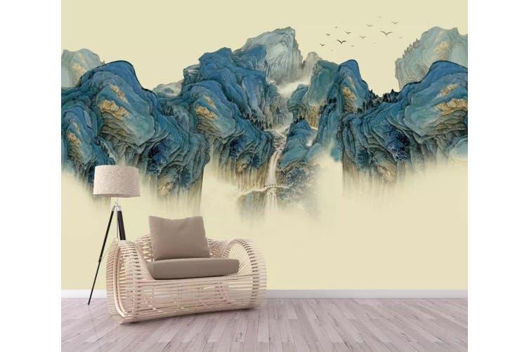 3D Home Wallpaper Green Valley 1234 BCHW Wall Murals Woven paper (need glue), XXL 312cm x 219cm (WxH)(123''x87'')