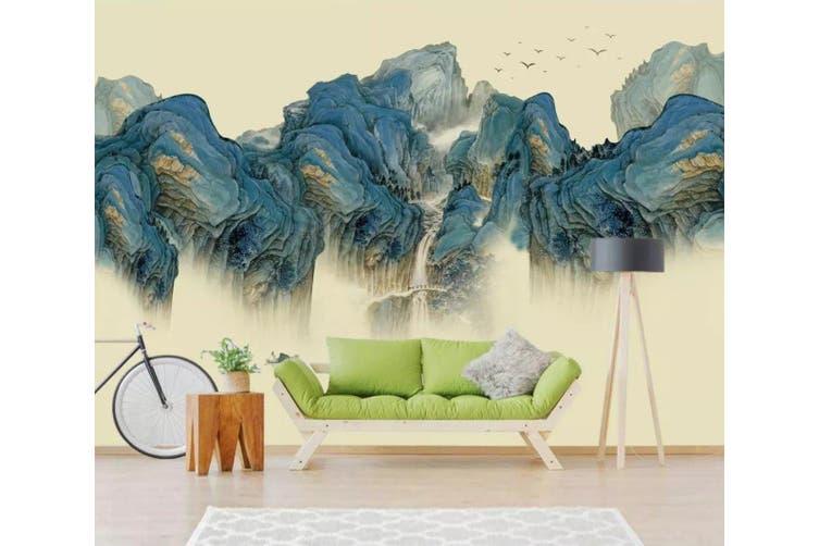 3D Home Wallpaper Green Valley 1234 BCHW Wall Murals Self-adhesive Vinyl, XXXL 416cm x 254cm (WxH)(164''x100'')