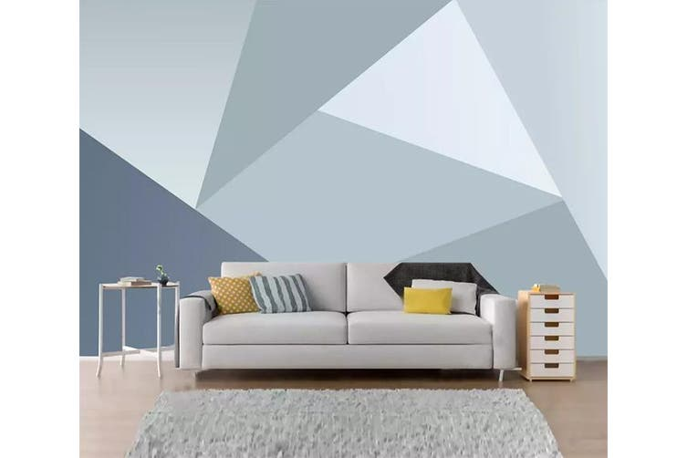 3D Home Wallpaper Triangle 1232 BCHW Wall Murals Woven paper (need glue), XXXXL 520cm x 290cm (WxH)(205''x114'')