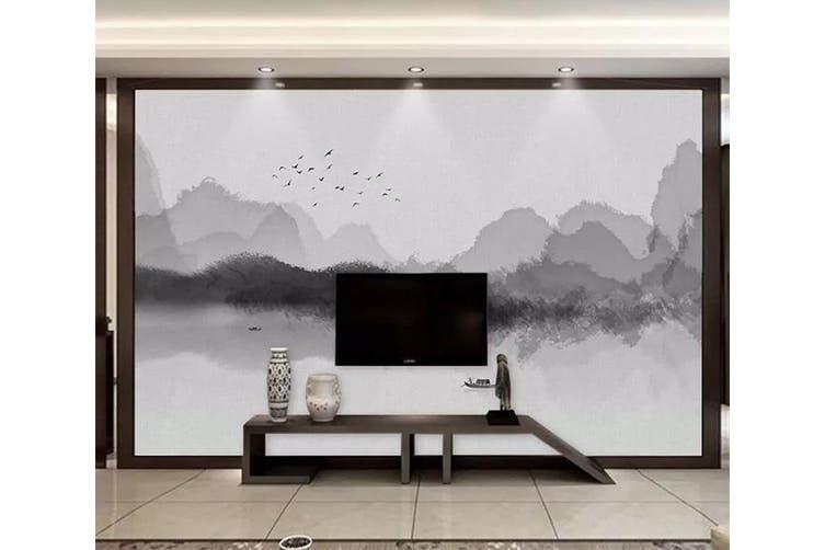 3D Home Wallpaper Mountain River 1231 BCHW Wall Murals Self-adhesive Vinyl, XXL 312cm x 219cm (WxH)(123''x87'')