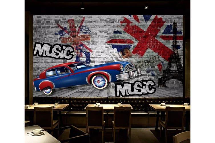 3D Home Wallpaper Blue Sports Car 1227 BCHW Wall Murals Self-adhesive Vinyl, XXXXL 520cm x 290cm (WxH)(205''x114'')