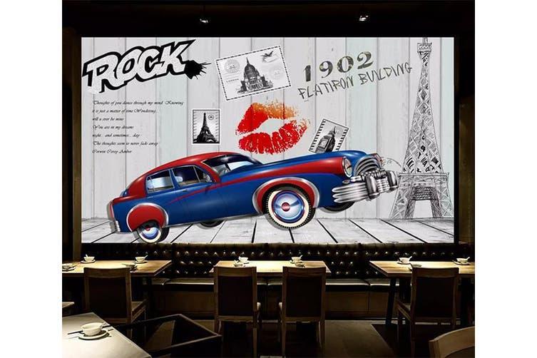 3D Home Wallpaper Car Red Lips 1225 BCHW Wall Murals Self-adhesive Vinyl, XL 208cm x 146cm (WxH)(82''x58'')