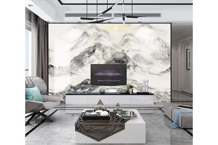 3D Home Wallpaper Foggy Forest 1222 BCHW Wall Murals Woven paper (need glue), XXXXL 520cm x 290cm (WxH)(205''x114'')