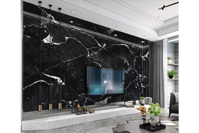3D Home Wallpaper Striped Black 1219 BCHW Wall Murals Woven paper (need glue), XXL 312cm x 219cm (WxH)(123''x87'')