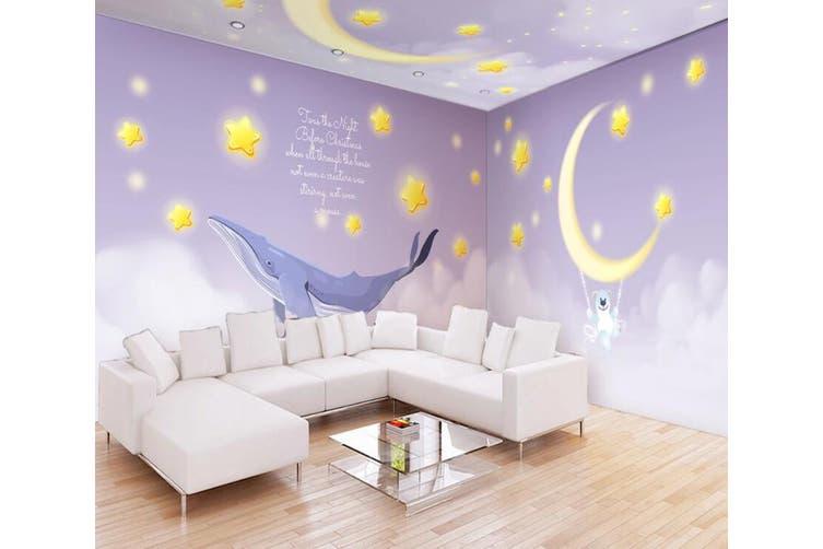 3D Home Wallpaper Dolphin Moon 1214 BCHW Wall Murals Woven paper (need glue), XXXL 416cm x 254cm (WxH)(164''x100'')