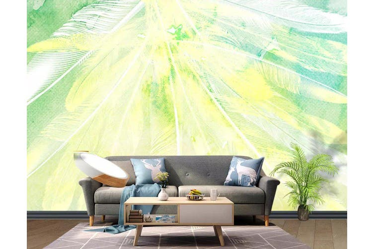 3D Home Wallpaper Colored Feather 1207 BCHW Wall Murals Self-adhesive Vinyl, XL 208cm x 146cm (WxH)(82''x58'')