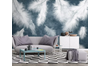 3D Home Wallpaper White Feather 1204 BCHW Wall Murals Woven paper (need glue), XL 208cm x 146cm (WxH)(82''x58'')