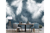 3D Home Wallpaper White Feather 1204 BCHW Wall Murals Self-adhesive Vinyl, XXXL 416cm x 254cm (WxH)(164''x100'')