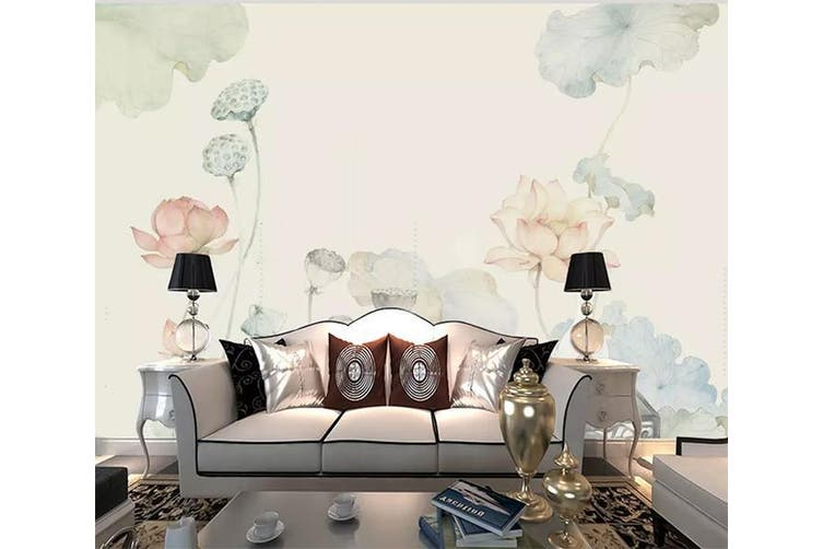 3D Home Wallpaper Lotus Pond 1202 BCHW Wall Murals Self-adhesive Vinyl, XXXL 416cm x 254cm (WxH)(164''x100'')