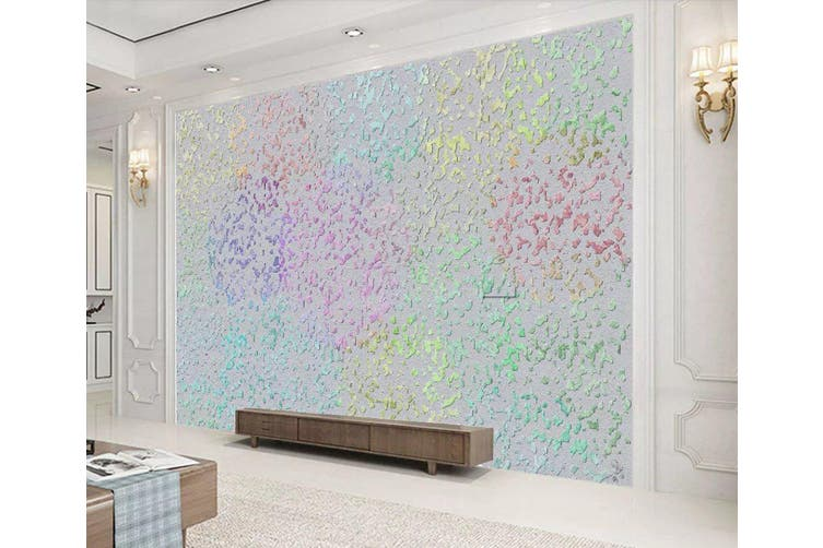 3D Home Wallpaper Colored Spots 1197 BCHW Wall Murals Woven paper (need glue), XL 208cm x 146cm (WxH)(82''x58'')