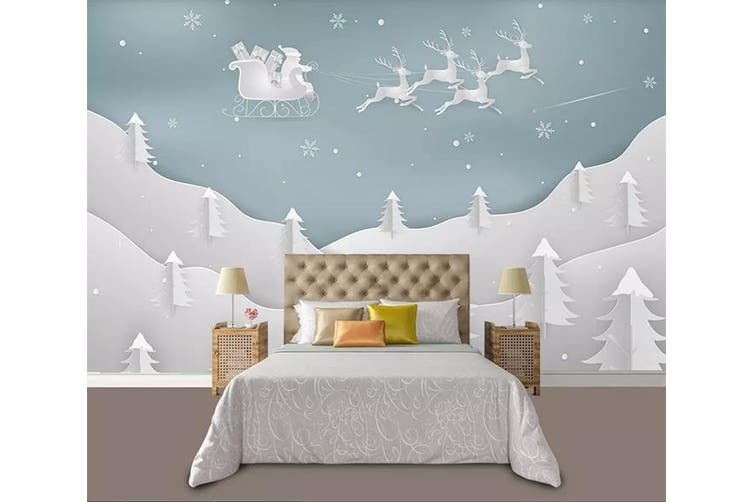 3D Home Wallpaper Forest Fawn 1196 BCHW Wall Murals Woven paper (need glue), XXL 312cm x 219cm (WxH)(123''x87'')