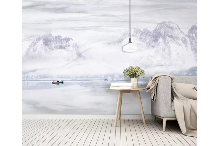 3D Home Wallpaper Mountain River 1195 BCHW Wall Murals Woven paper (need glue), XXXXL 520cm x 290cm (WxH)(205''x114'')