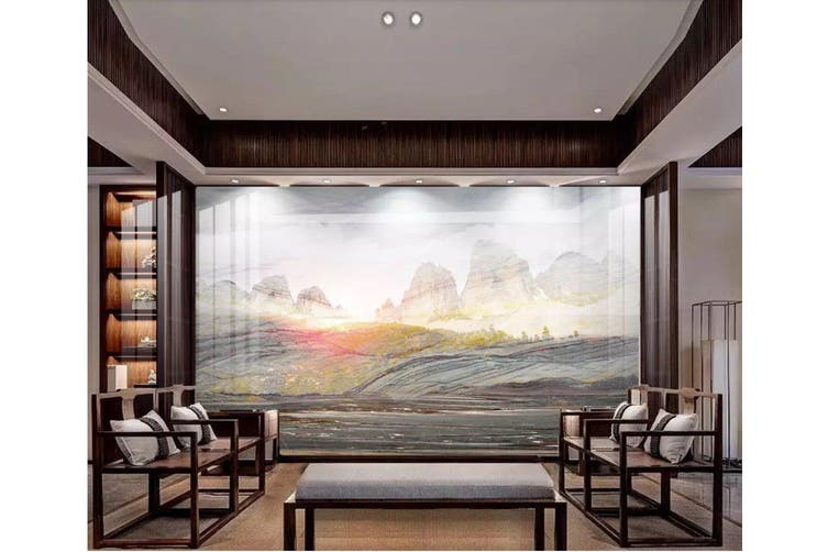 3D Home Wallpaper Mountain River 1191 BCHW Wall Murals Woven paper (need glue), XL 208cm x 146cm (WxH)(82''x58'')
