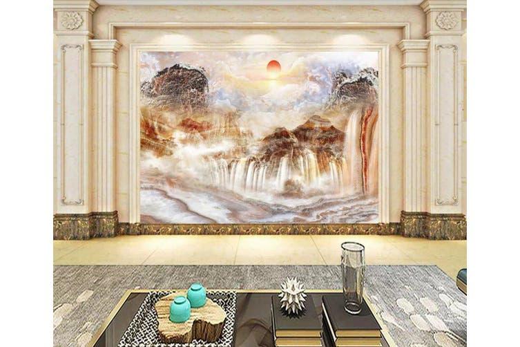 3D Home Wallpaper Mountain River 1190 BCHW Wall Murals Woven paper (need glue), XXL 312cm x 219cm (WxH)(123''x87'')