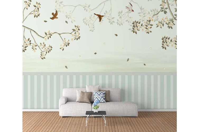 3D Home Wallpaper Small Leaves 1X1 BCHW Wall Murals Self-adhesive Vinyl, XL 208cm x 146cm (WxH)(82''x58'')