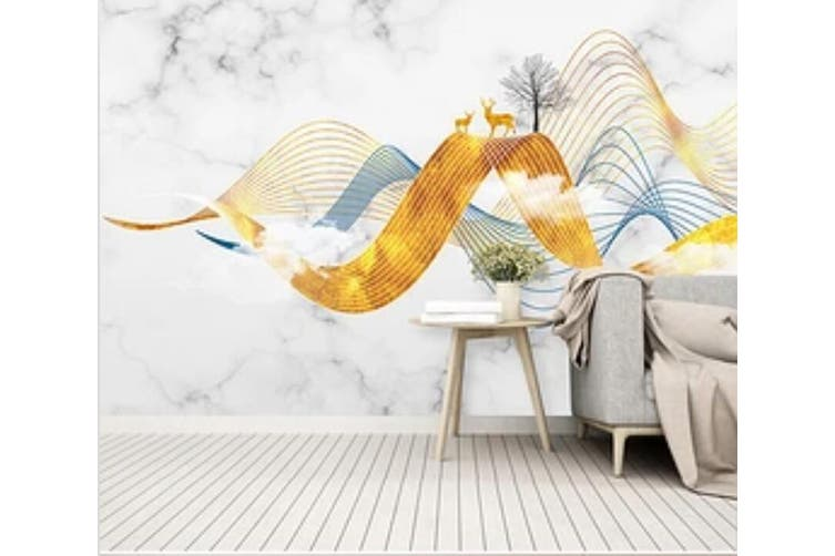 3D Home Wallpaper Color Wave 1X0 BCHW Wall Murals Woven paper (need glue), XXL 312cm x 219cm (WxH)(123''x87'')