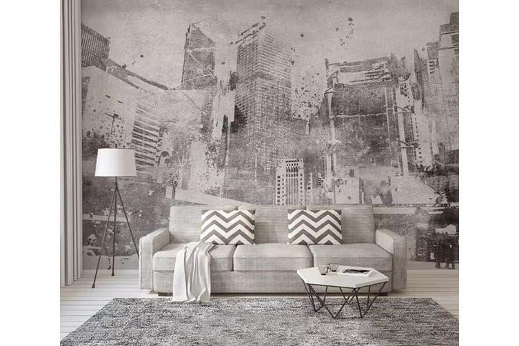 3D Home Wallpaper Grey City 1178 BCHW Wall Murals Woven paper (need glue), XL 208cm x 146cm (WxH)(82''x58'')