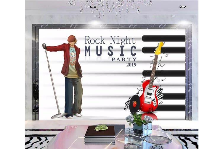 3D Home Wallpaper Music Guitar 1176 BCHW Wall Murals Self-adhesive Vinyl, XXXXL 520cm x 290cm (WxH)(205''x114'')