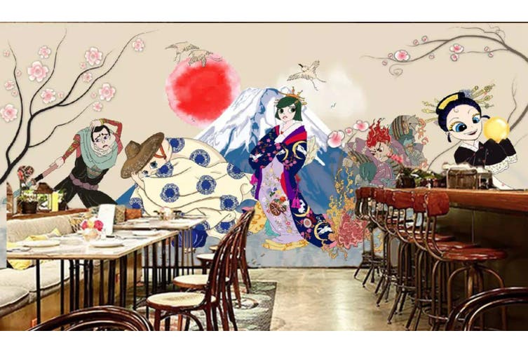 3D Home Wallpaper Running And Playing 1175 BCHW Wall Murals Self-adhesive Vinyl, XL 208cm x 146cm (WxH)(82''x58'')