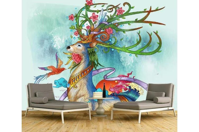 3D Home Wallpaper Color Deer 1173 BCHW Wall Murals Self-adhesive Vinyl, XXXL 416cm x 254cm (WxH)(164''x100'')