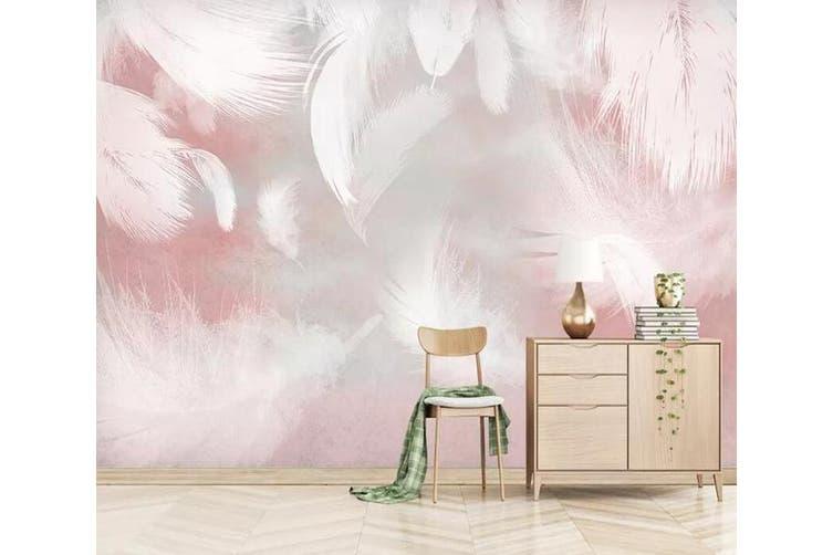 3D Home Wallpaper Pink Feather 1172 BCHW Wall Murals Woven paper (need glue), XL 208cm x 146cm (WxH)(82''x58'')
