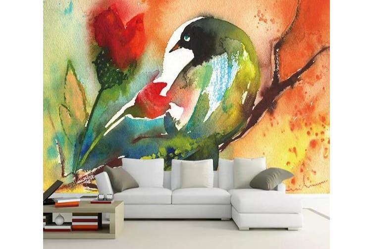 3D Home Wallpaper Color Bird 1171 BCHW Wall Murals Woven paper (need glue), XXXL 416cm x 254cm (WxH)(164''x100'')