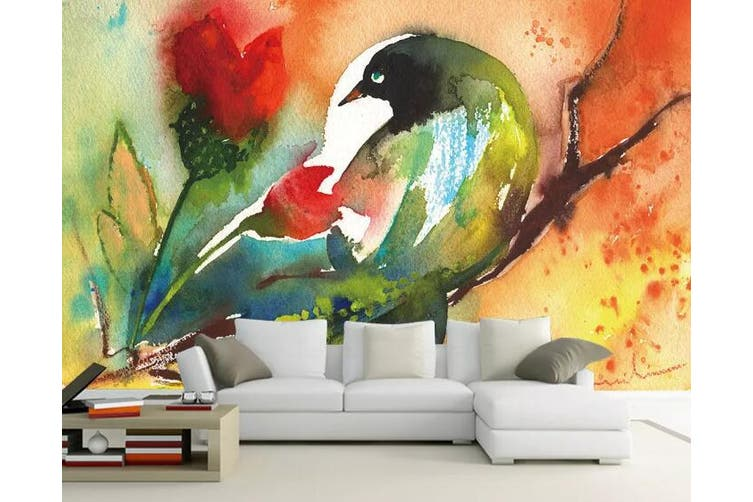 3D Home Wallpaper Color Bird 1171 BCHW Wall Murals Self-adhesive Vinyl, XXXL 416cm x 254cm (WxH)(164''x100'')