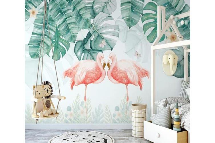 3D Home Wallpaper Pink Flamingo 1170 BCHW Wall Murals Self-adhesive Vinyl, XL 208cm x 146cm (WxH)(82''x58'')